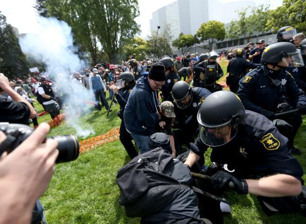 Tax March demonstrations - Berkeley