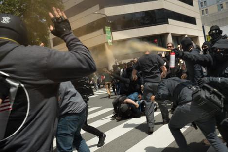 Patriots Day Free Speech Rally in Berkeley