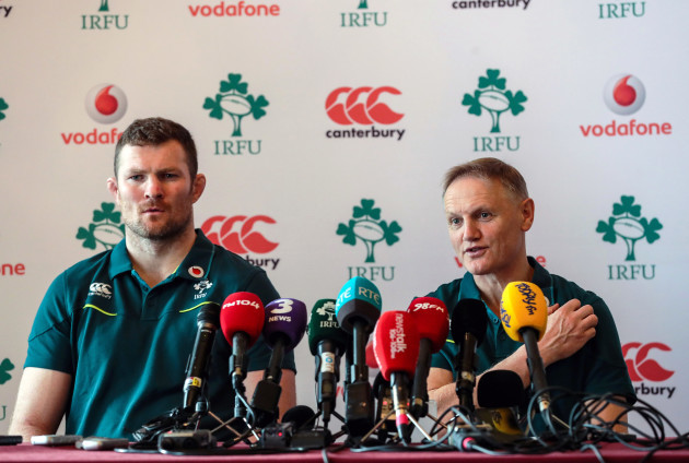 Donnacha Ryan and Joe Schmidt