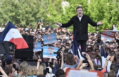 Jean-Luc Melenchon Campaign Meeting - Toulouse