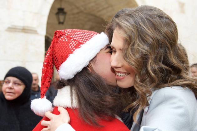 Bashar And Asma Al Assad Celebrate Christmas - Sednaya
