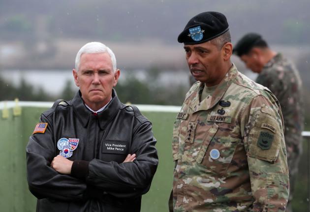 South Korea - U.S. Vice President Mike Pence Visit to DMZ