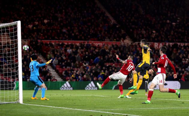 Middlesbrough v Arsenal - Premier League - Riverside Stadium
