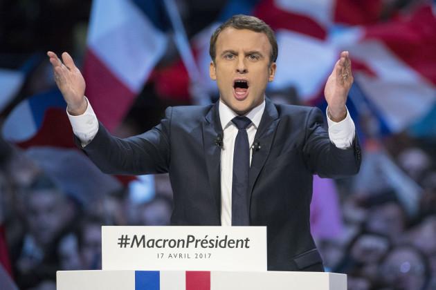Emmanuel Macron Campaign Meeting - Paris
