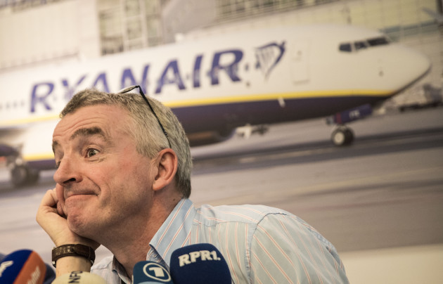 Ryanair expansion plans at Frankfurt press conference