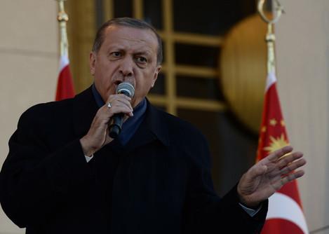 President Erdogan Addresses Supporters - Ankara