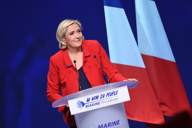 France: Marine Le Pen Campaign Rally