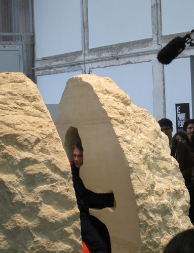 Extreme action artist to live inside a rock