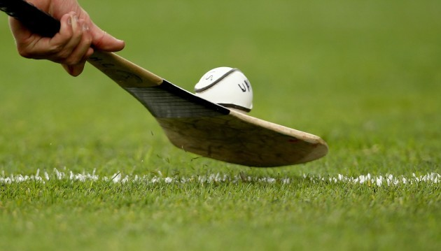 General view of a hurl and sliotar