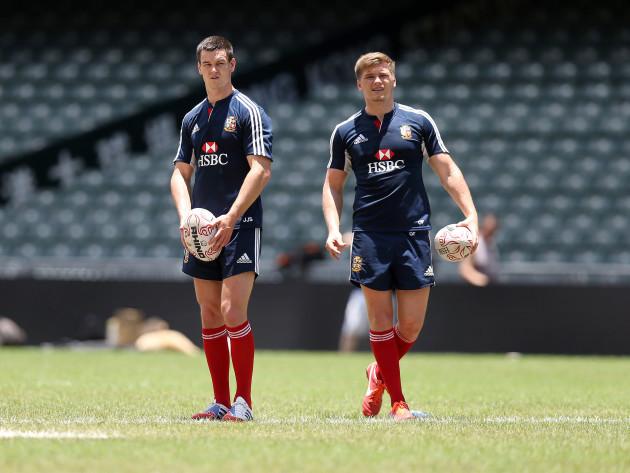 Jonathan Sexton and Owen Farrell 31/5/2013