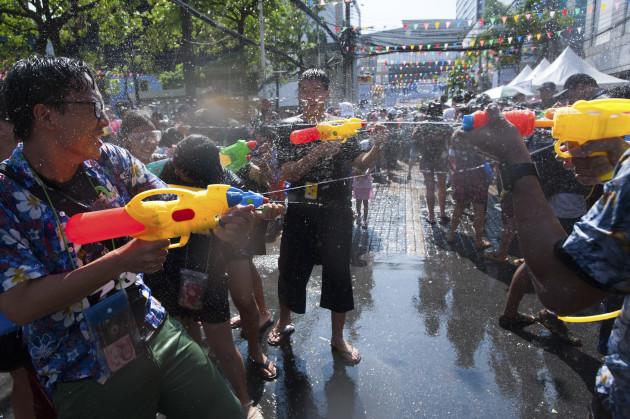 Thailand: Songkran Festival in Bangkok 2017