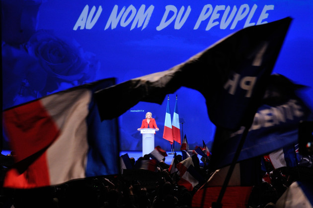 Marine Le Pen Campaign Meeting - Paris