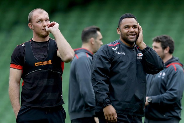 Schalk Burger and Billy Vunipola