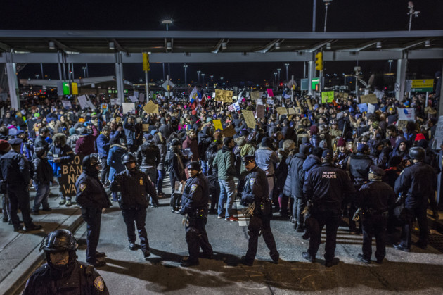 NYC: 1000s Shutdown NYC's JFK Airport, Defy Trump