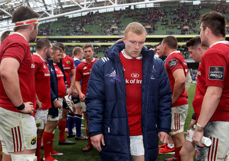 Keith Earls dejected after the game