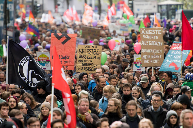 Protests against AfD party convention in Cologne