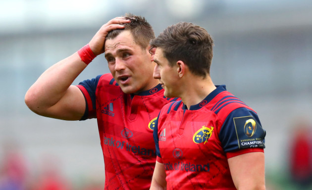 CJ Stander and Ian Keatley dejected after the game