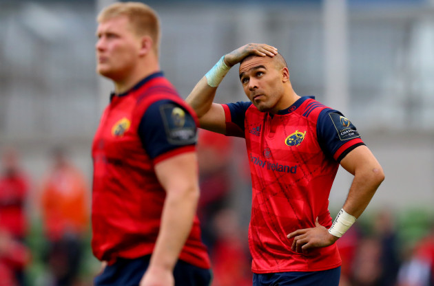 Simon Zebo dejected