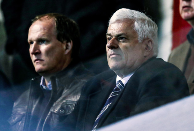 Peter Ridsdale with Simon Grayson