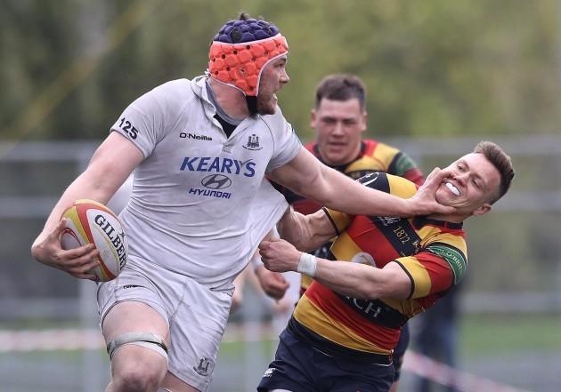 Matthew D'Arcy tackles Conor Kindregan
