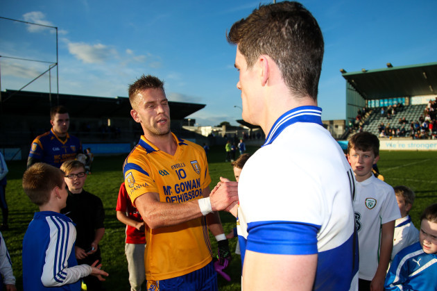 Diarmuid Connolly with Dublin teammate Jonathan Cooper at the end of the game
