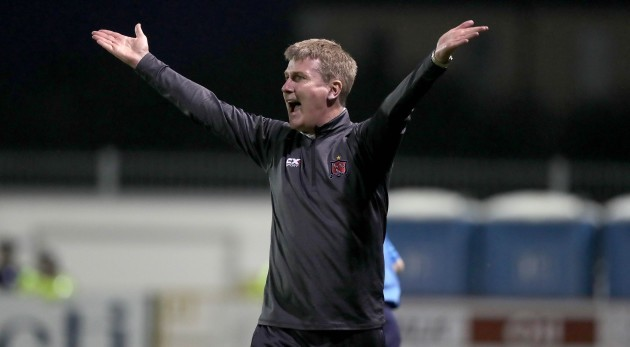 Stephen Kenny appeals to the referee for a penalty