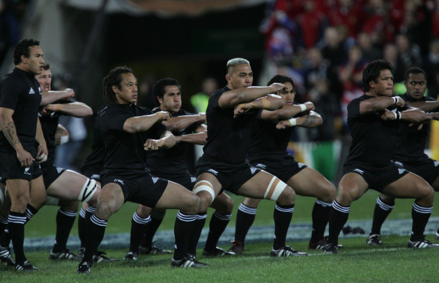 New Zealand All Blacks preform the Haka