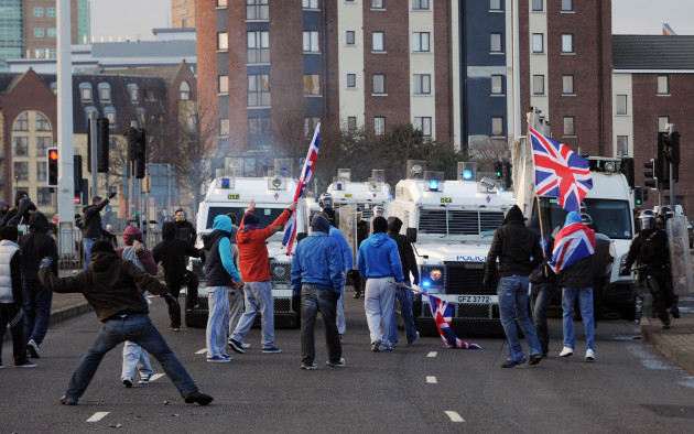 Unionists Flags Protests
