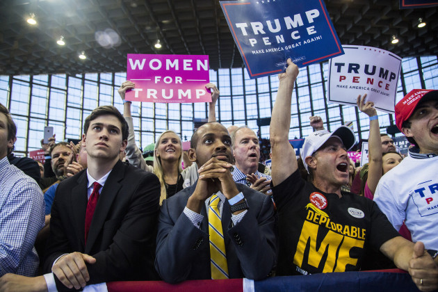 Trump campaigns in Raleigh