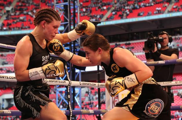 Katie Taylor and Nina Meinke