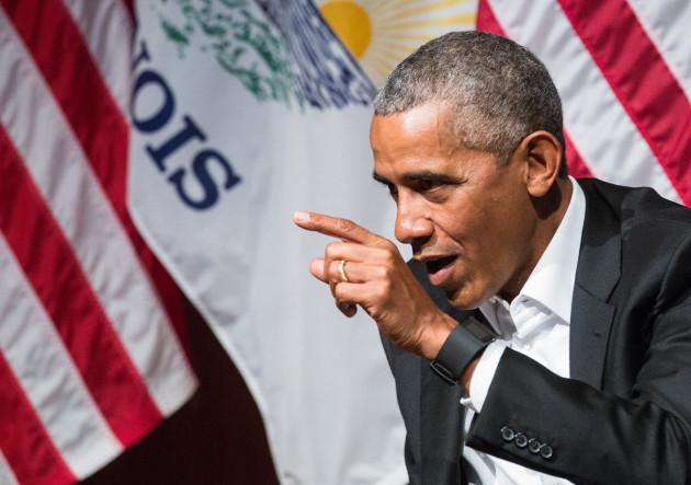 Barack Obama Speaks At Logan Center For The Arts - University Of Chicago