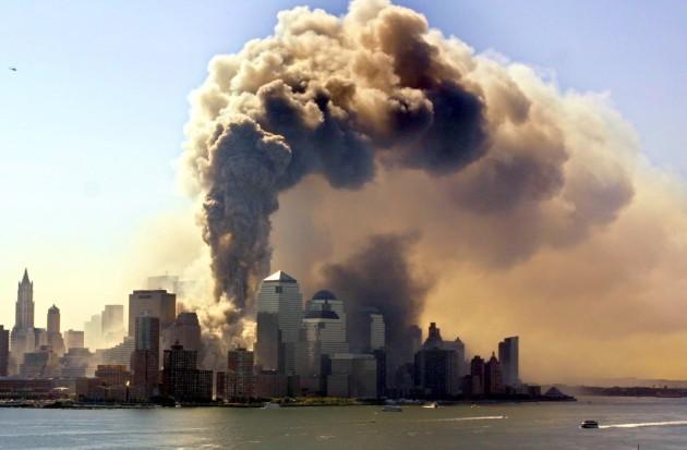 Terrorist attack: The World Trade Center collapses
