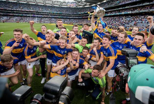 The Tipperary team celebrate