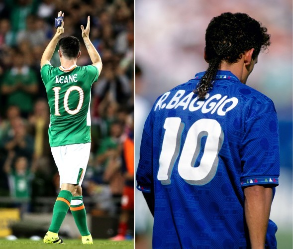 Robbie Keane is given a standing ovation as he is subbed off
