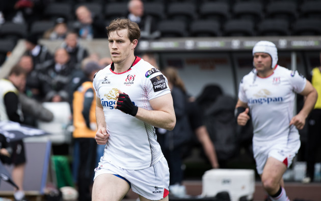 Andrew Trimble takes to the pitch
