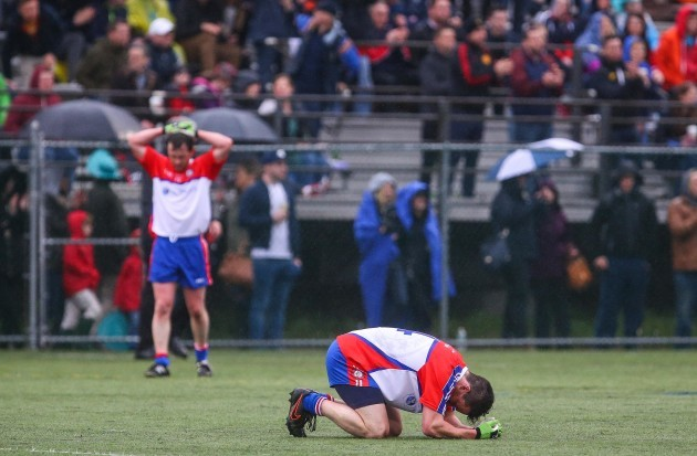Killian Moynagh dejected at the final whistle