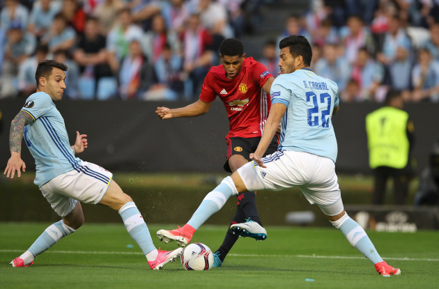 Celta Vigo v Manchester United - UEFA Europa League - Semi Final - First Leg - Estadio Municipal de Balaidos