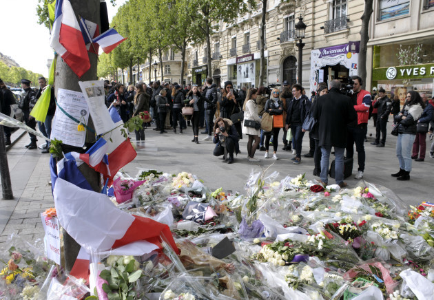 Tribute To Victims of Champs Elysees Terror Attack - Paris
