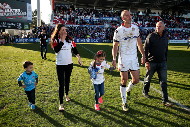 Ruan Pienaar with his wife Monique son Jean Luc, daughter Lemay and father Gysie Pienaar