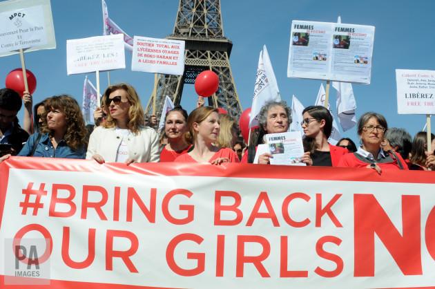 Valerie Trierweiler Participates Bring Back Our Girls Campaign - Paris