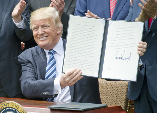 Trump Signs Two Documents - Washington