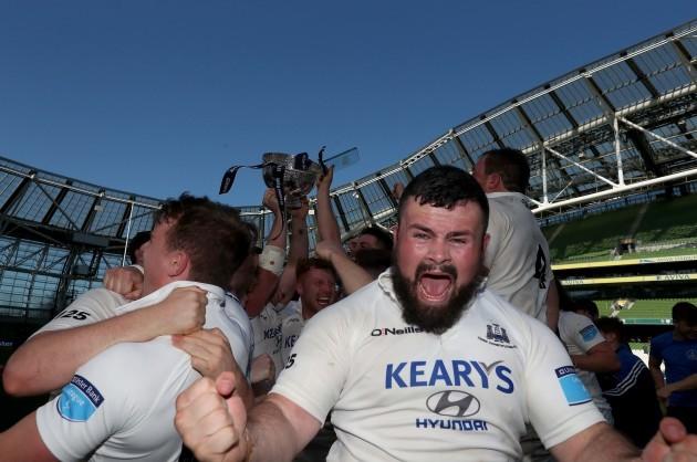 Rory Burke celebrates