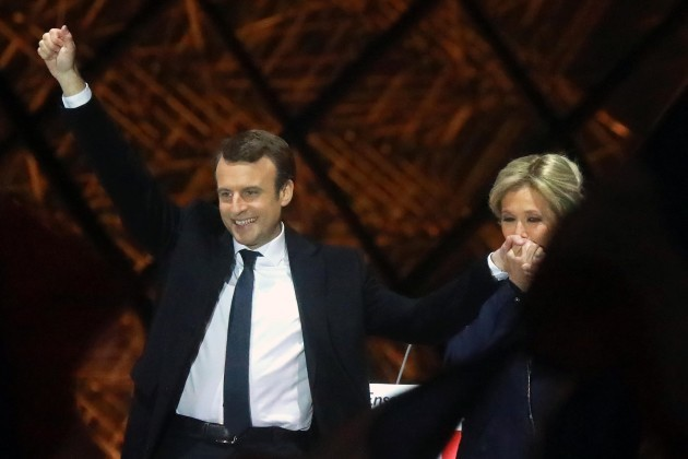 Emmanuel Macron Delivers His Speech After Wining Presidential Election - Paris