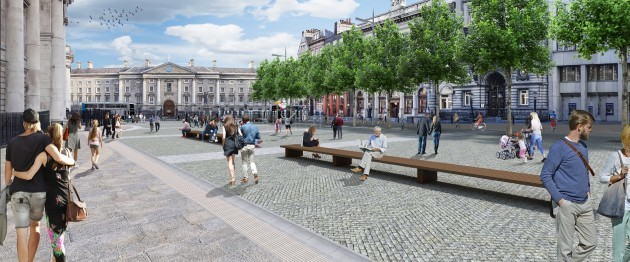 DCC College Green view towards Trinity College
