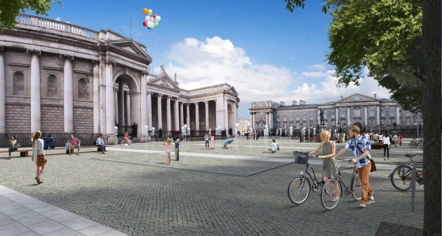 DCC College Green view  towards  Bank of Ireland
