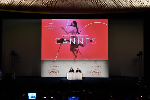 FRANCE-PARIS-CANNES FILM FESTIVAL-NEWS CONFERENCE-OFFICIAL FILM SELECTION