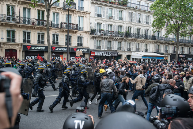 France: Demonstration Against Newly Elected French President Emmanuel Macron