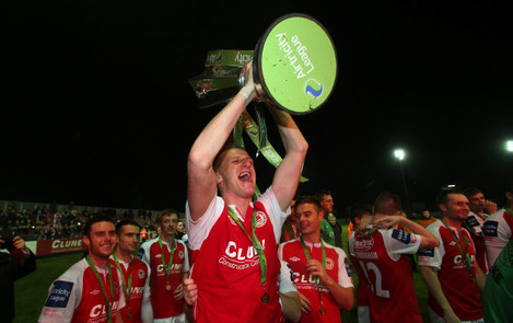 Anto Flood celebrates with the trophy