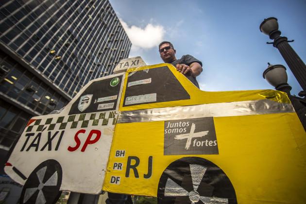 Uber Protest - Sao Paulo