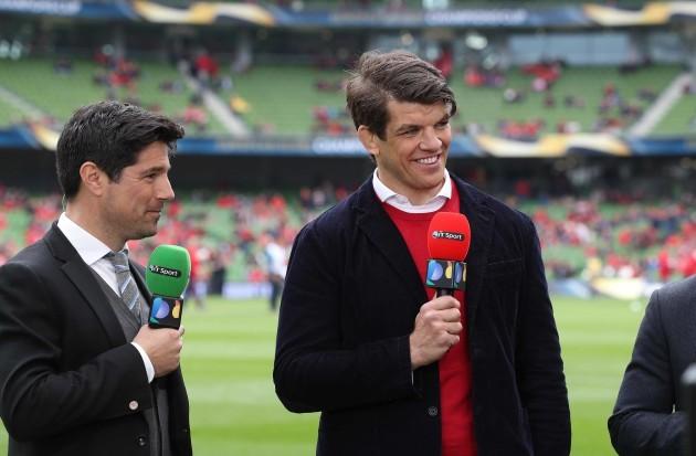 BT Sport Craig Doyle and Donncha O'Callaghan TV